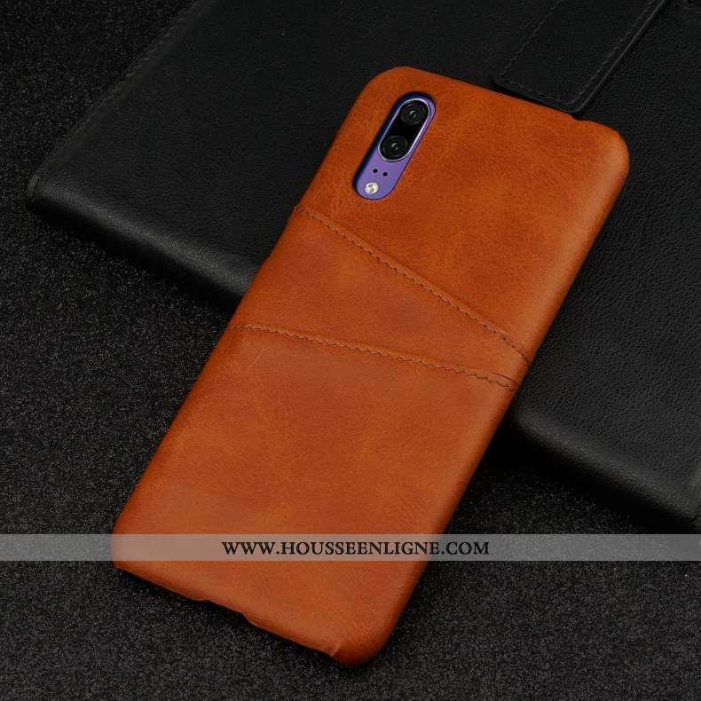 Coque Huawei P20 Protection Personnalité Incassable Luxe Téléphone Portable Business Difficile Marro