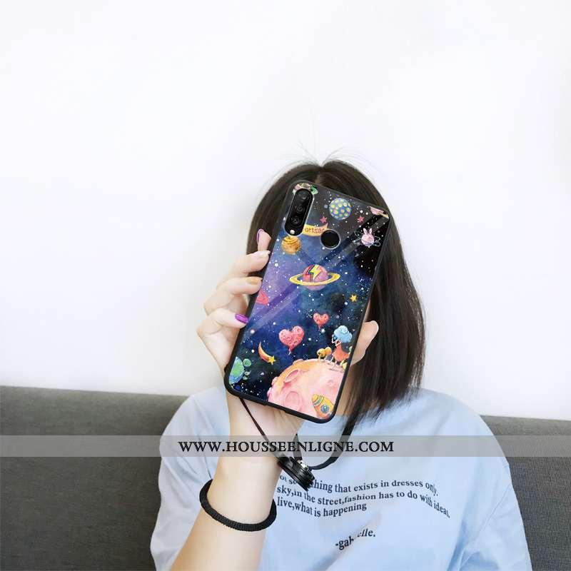 Coque Huawei P30 Lite Protection Verre Violet Ciel Étoilé Personnalité Dessin Animé Incassable
