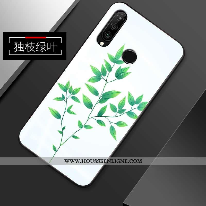 Coque Huawei P30 Lite Xl Créatif Ultra Incassable Protection Simple Fluide Doux Étui Verte