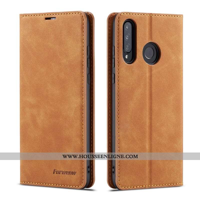 Coque Huawei P30 Lite Xl Cuir Téléphone Portable Plier Reversible Étui Kaki Khaki