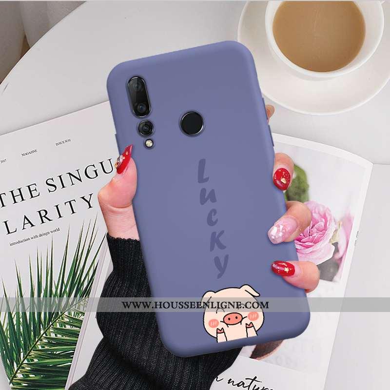 Coque Huawei P30 Lite Xl Personnalité Créatif Fluide Doux Chanceux Étui Petit Violet