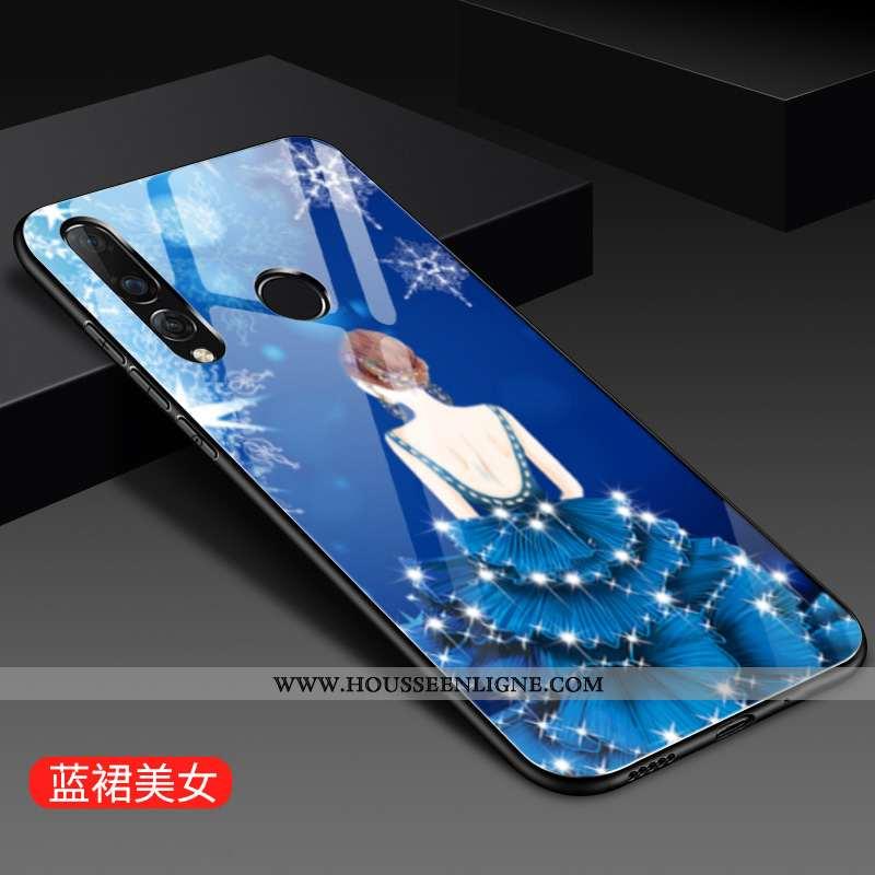Coque Huawei P30 Lite Xl Tendance Mode Verre Blanc Personnalité Petit Blanche