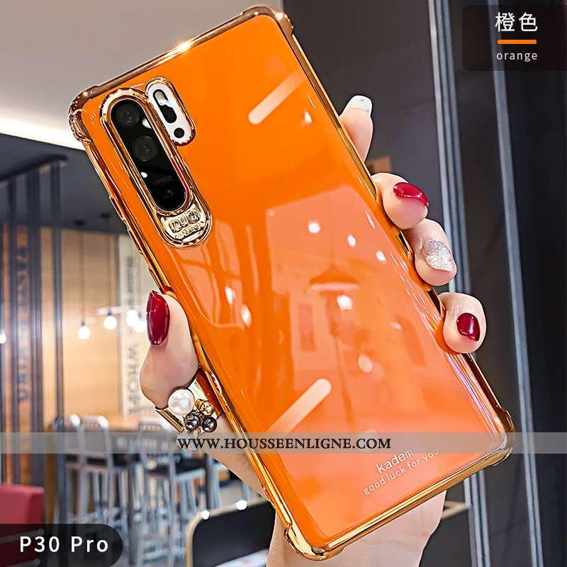 Coque Huawei P30 Pro Créatif Tendance Net Rouge Personnalité Luxe Silicone Orange