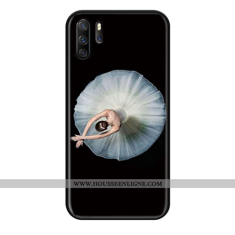 Coque Huawei P30 Pro Silicone Mode Protection Étui Simple Noir Gaufrage