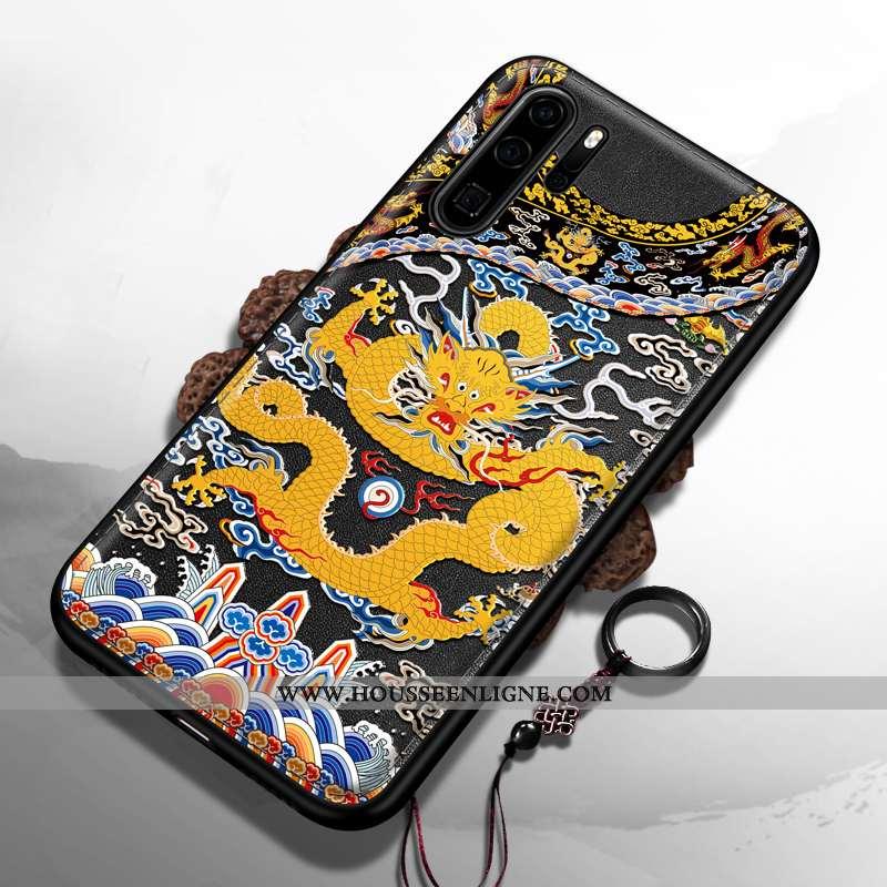 Coque Huawei P30 Pro Silicone Protection Tendance Dragon Nouveau Luxe Noir