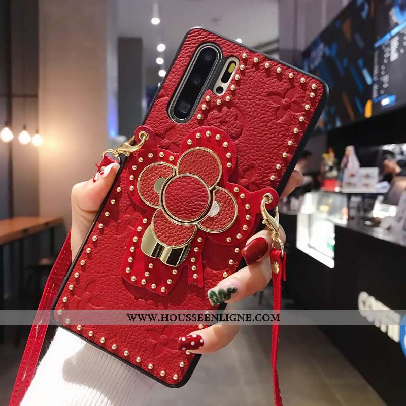 Coque Huawei P30 Pro Tendance Cuir Luxe Rouge Qualité Support Europe