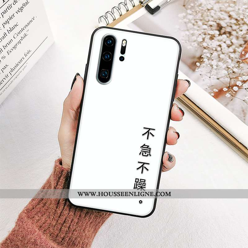 Coque Huawei P30 Pro Tendance Fluide Doux Étui Silicone Incassable Tout Compris Blanche