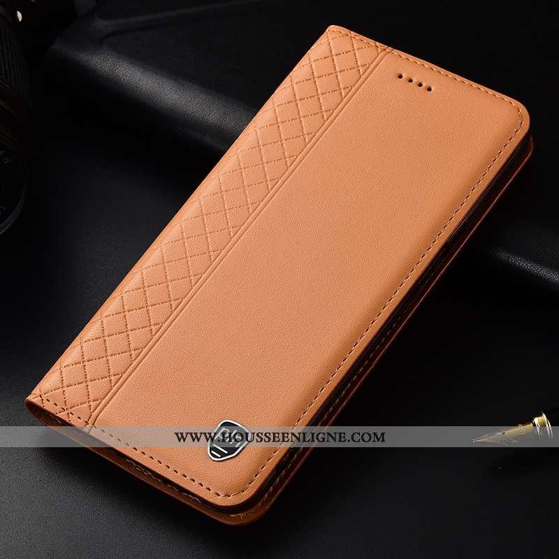 Coque Huawei P30 Protection Cuir Véritable Clamshell Kaki Cuir Étui Incassable Khaki