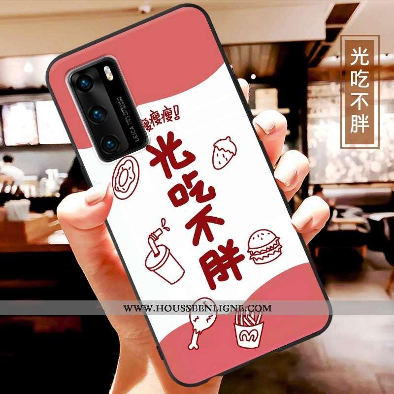 Coque Huawei P40 Charmant Ultra Fluide Doux Étui Net Rouge Légère Tendance