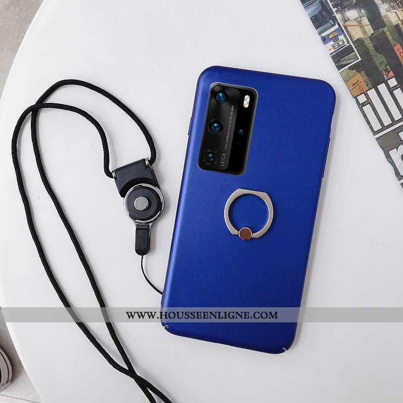 Coque Huawei P40 Délavé En Daim Ornements Suspendus Protection Téléphone Portable Une Agrafe Tout Co