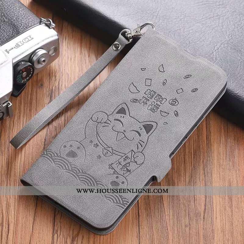 Coque Huawei P40 Fluide Doux Silicone Cuir Housse Téléphone Portable Incassable Gris