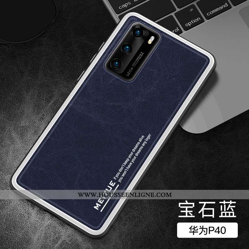 Coque Huawei P40 Légère Fluide Doux Nouveau Luxe Silicone Ultra Incassable Bleu Foncé