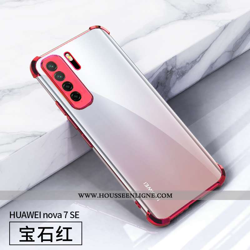 Coque Huawei P40 Lite 5g Fluide Doux Silicone Créatif Rouge Tout Compris Personnalité Net Rouge