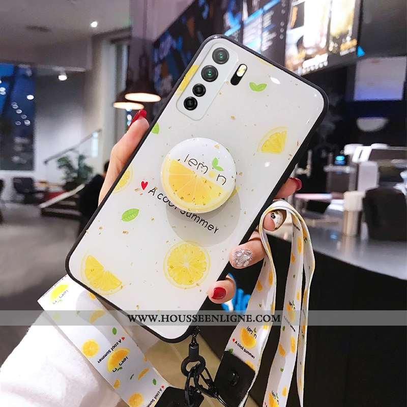 Coque Huawei P40 Lite 5g Fluide Doux Silicone Tout Compris Étui Jaune Protection Net Rouge