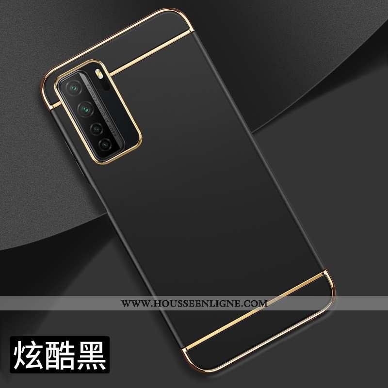 Coque Huawei P40 Lite 5g Protection Délavé En Daim Étui Personnalité Incassable Créatif Noir