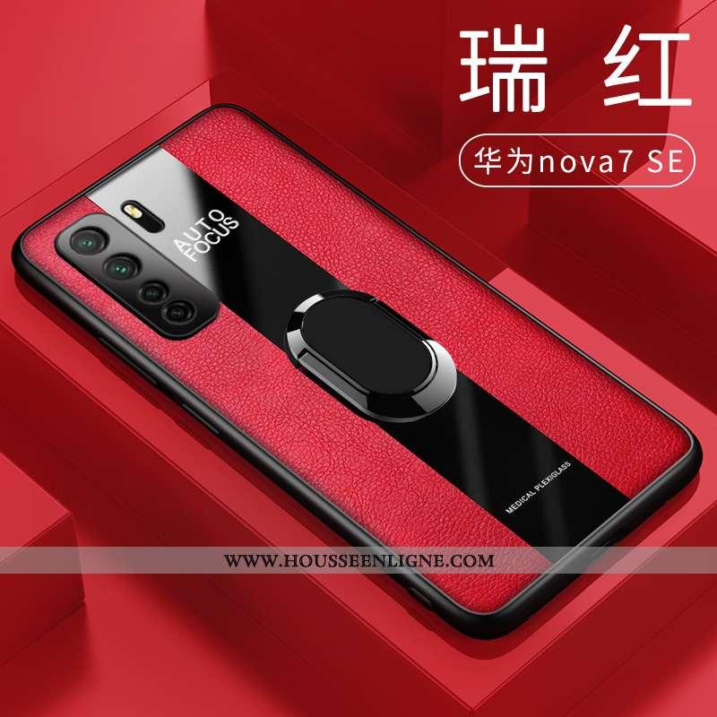 Coque Huawei P40 Lite 5g Silicone Protection Rouge Tout Compris Cuir Étui Téléphone Portable