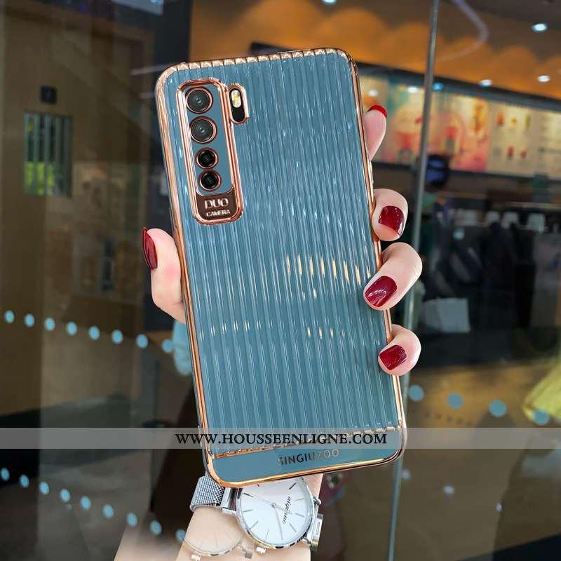 Coque Huawei P40 Lite 5g Silicone Protection Tout Compris Fluide Doux Personnalité Bleu Tendance