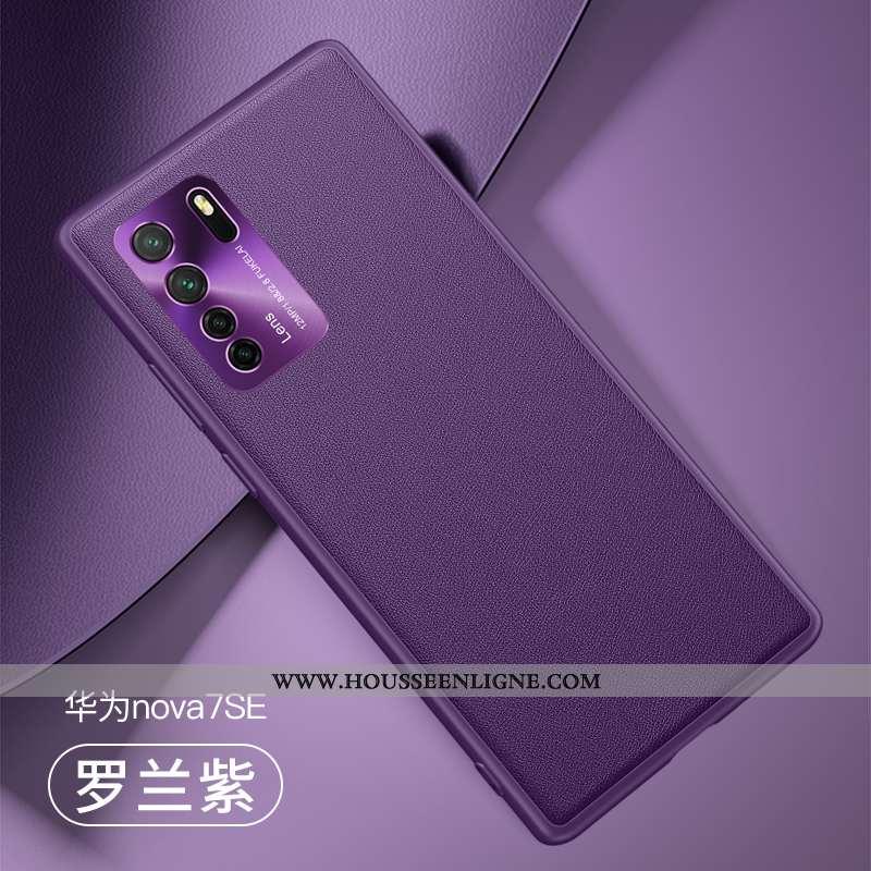 Coque Huawei P40 Lite 5g Tendance Cuir Fluide Doux Créatif Incassable Personnalité Violet