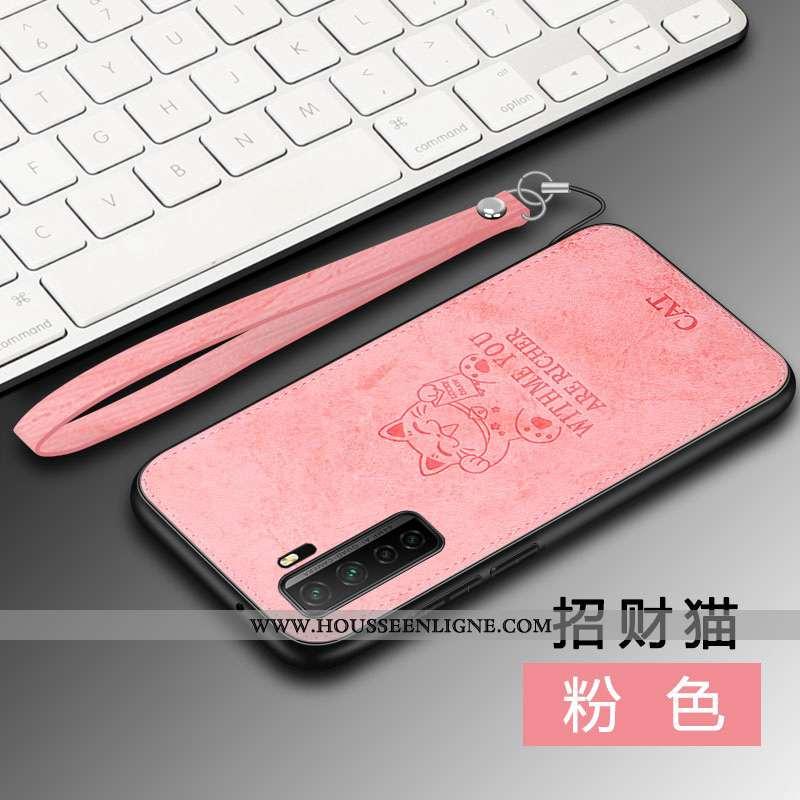 Coque Huawei P40 Lite 5g Tendance Modèle Fleurie À Bord Téléphone Portable Protection Rose Elk