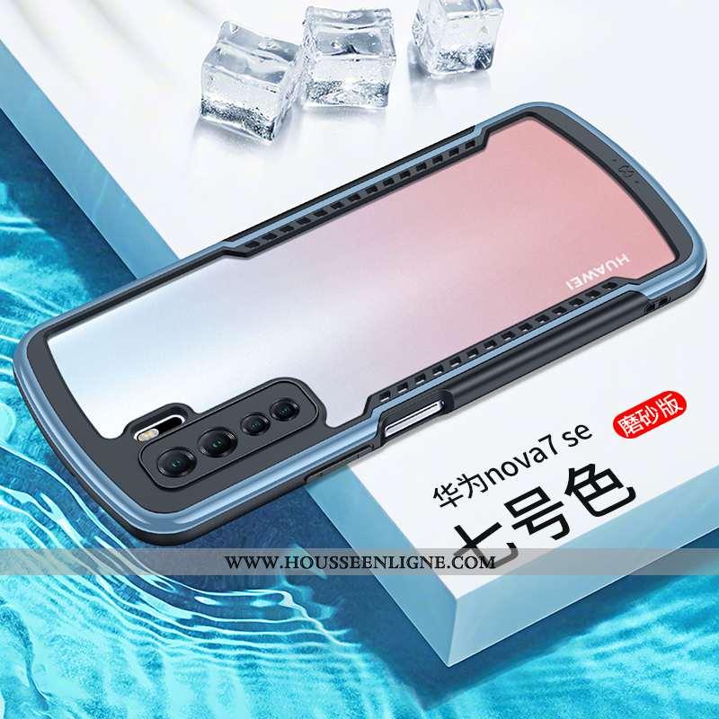 Coque Huawei P40 Lite 5g Verre Silicone Bleu Tout Compris Protection Étui Incassable