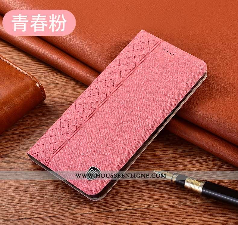 Coque Huawei P40 Lite Cuir Protection Étui Rose Incassable Téléphone Portable