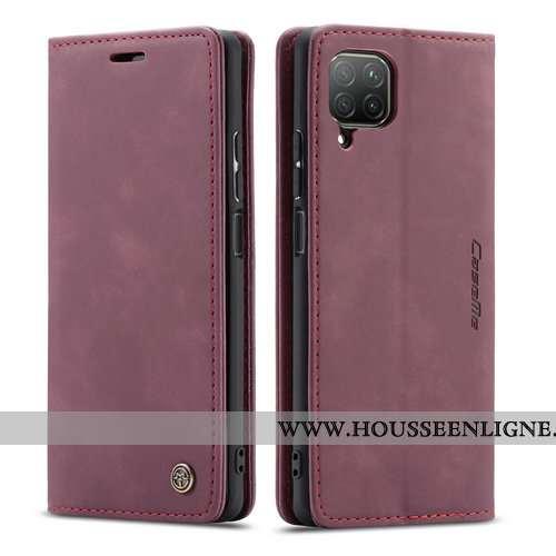 Coque Huawei P40 Lite Cuir Protection Étui Tout Compris Créatif Clamshell Bordeaux