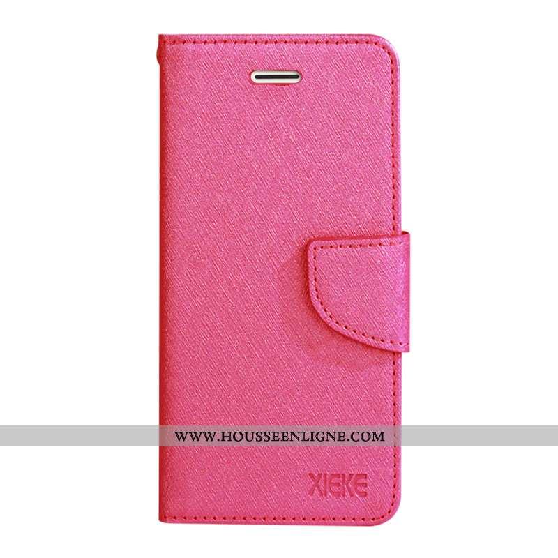 Coque Huawei P40 Lite Cuir Véritable Mode Étui Reversible Rouge Plier