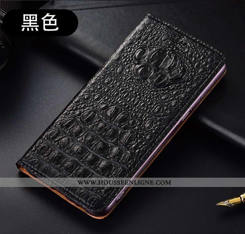 Coque Huawei P40 Lite Cuir Véritable Protection Téléphone Portable Noir Étui Tout Compris