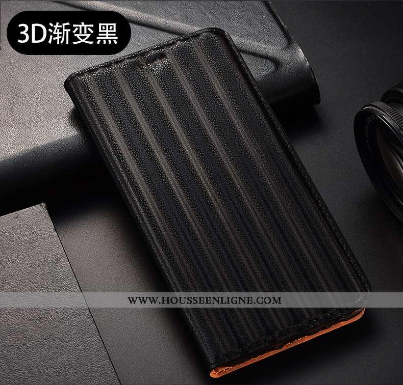 Coque Huawei P40 Lite E Modèle Fleurie Protection Dégradé Tout Compris Housse Cuir Véritable Noir