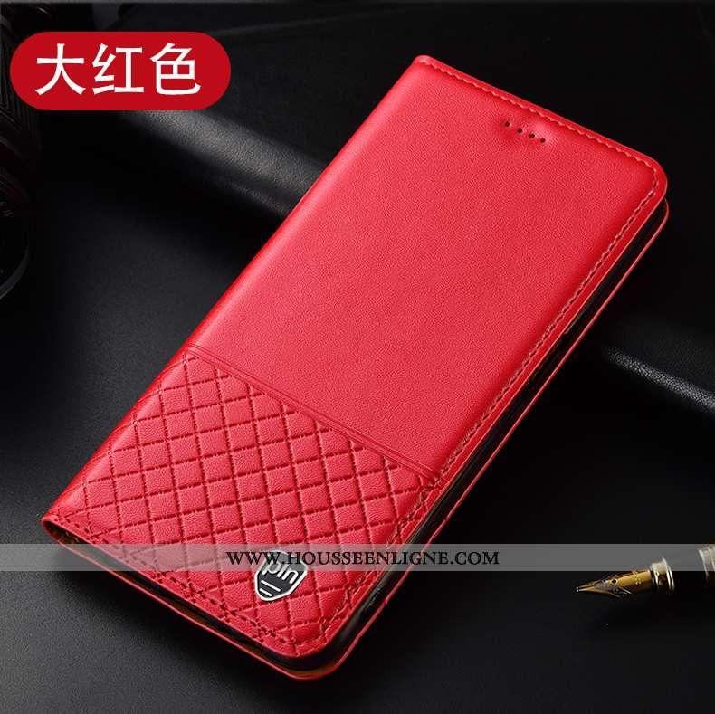 Coque Huawei P40 Lite E Protection Cuir Véritable Téléphone Portable Tout Compris Rouge Housse