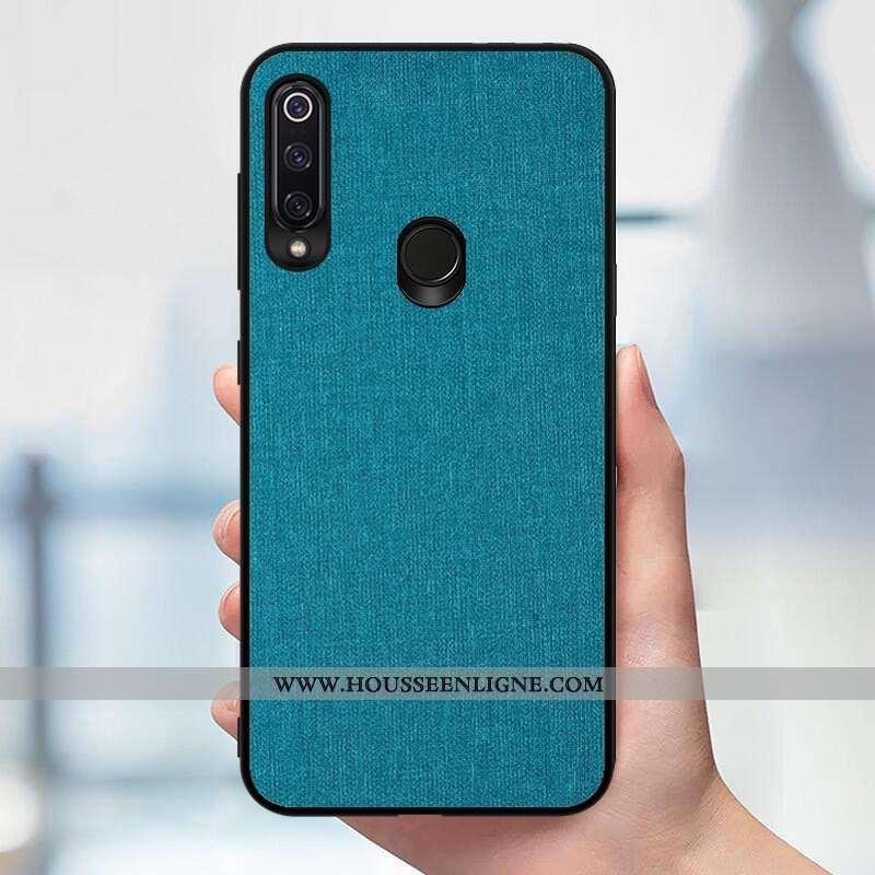 Coque Huawei P40 Lite E Protection Modèle Fleurie Téléphone Portable Tissu Silicone Bleu Marin Bleu