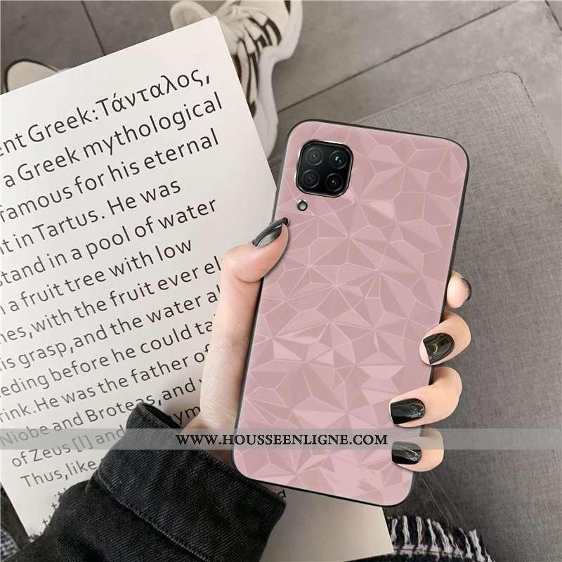 Coque Huawei P40 Lite Modèle Fleurie Protection Rose Étui Losange Simple