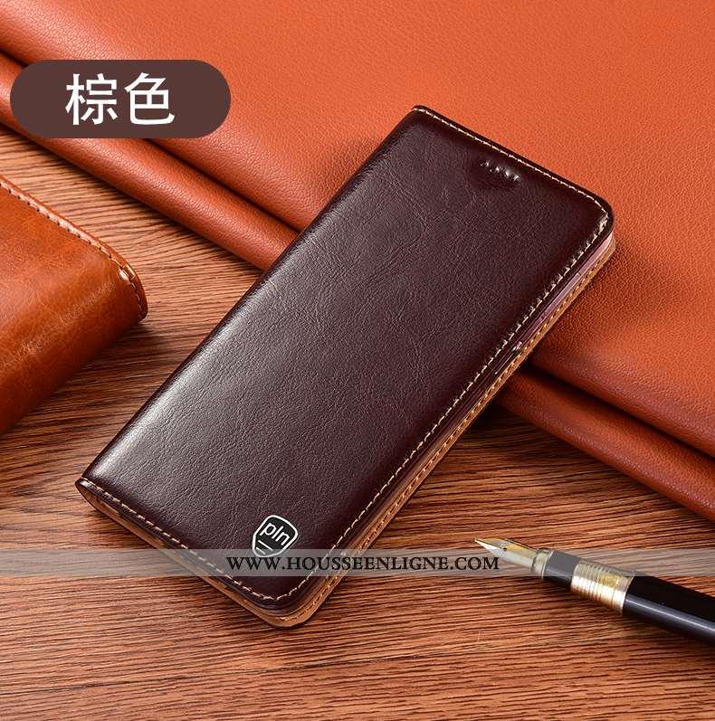 Coque Huawei P40 Lite Modèle Fleurie Protection Téléphone Portable Cuir Véritable Étui Housse Tout C