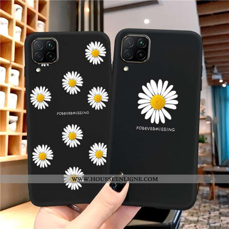 Coque Huawei P40 Lite Protection Délavé En Daim Silicone Noir Étui Téléphone Portable