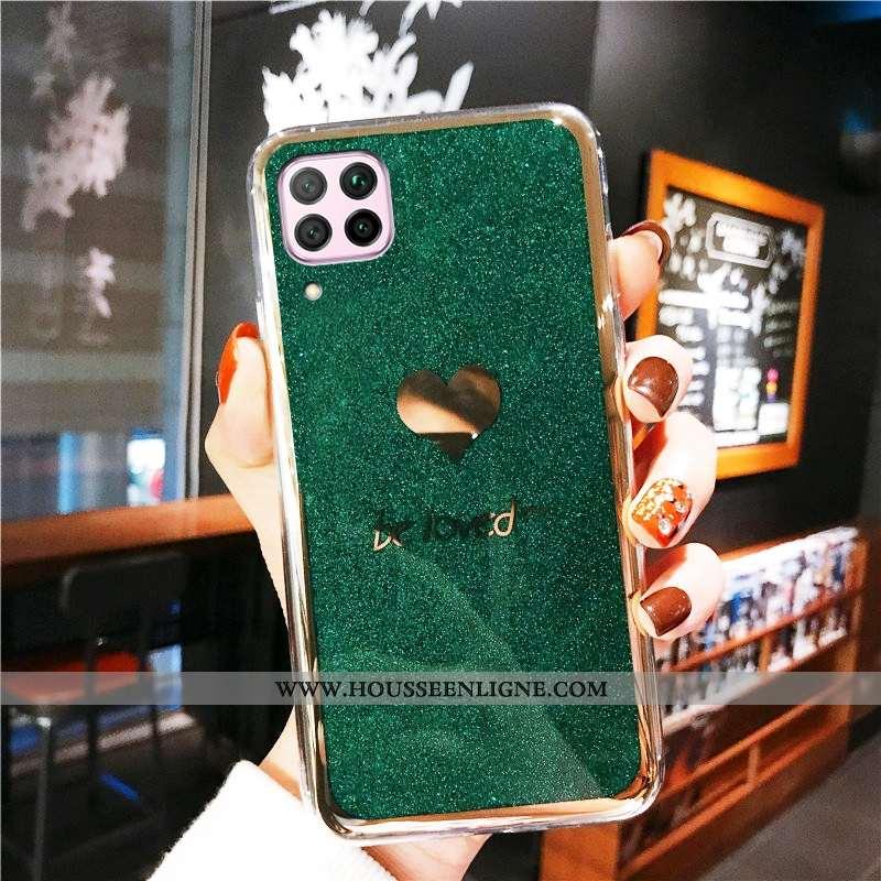 Coque Huawei P40 Lite Protection Incruster Strass Téléphone Portable Rose Incassable Vert Tendance V