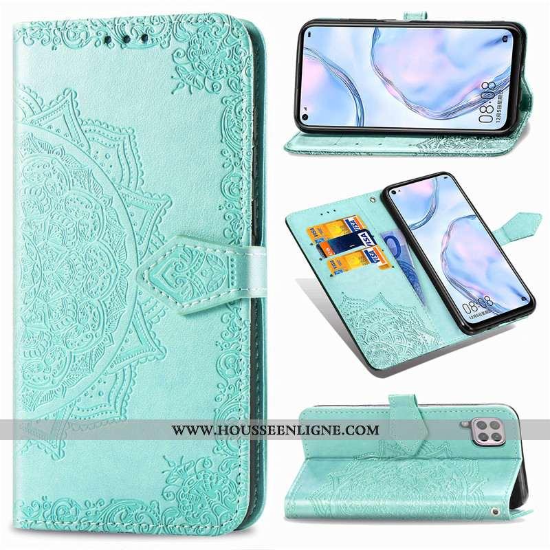 Coque Huawei P40 Lite Protection Ornements Suspendus Housse Couleur Unie Gaufrage Téléphone Portable