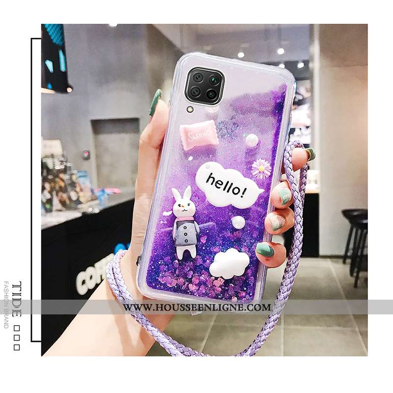 Coque Huawei P40 Lite Silicone Protection Violet Légères Légère Nouveau