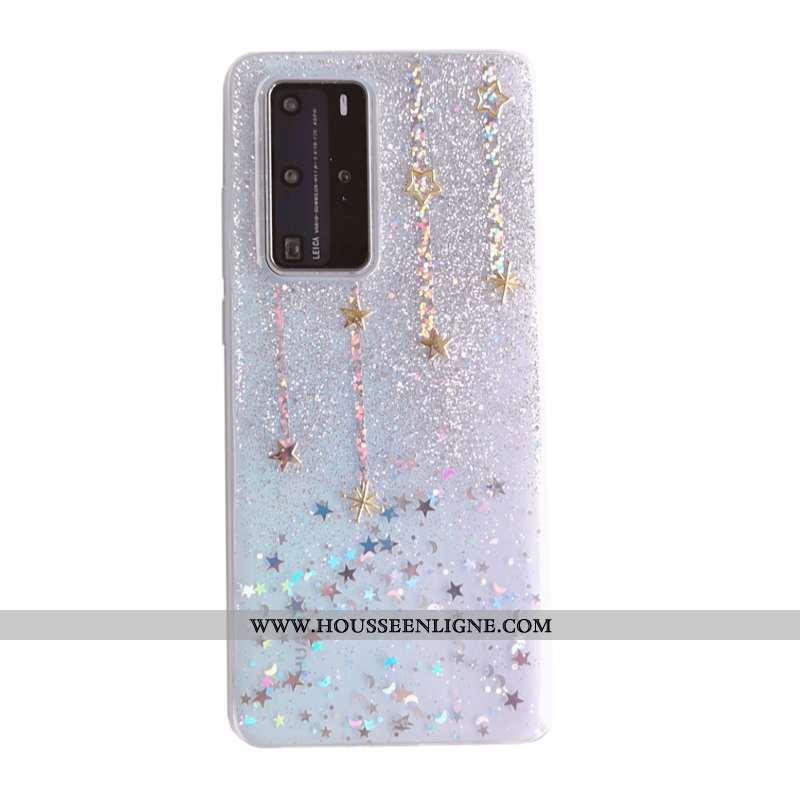 Coque Huawei P40 Pro Charmant Tendance Rêver Argent Fluide Doux Tout Compris Incassable