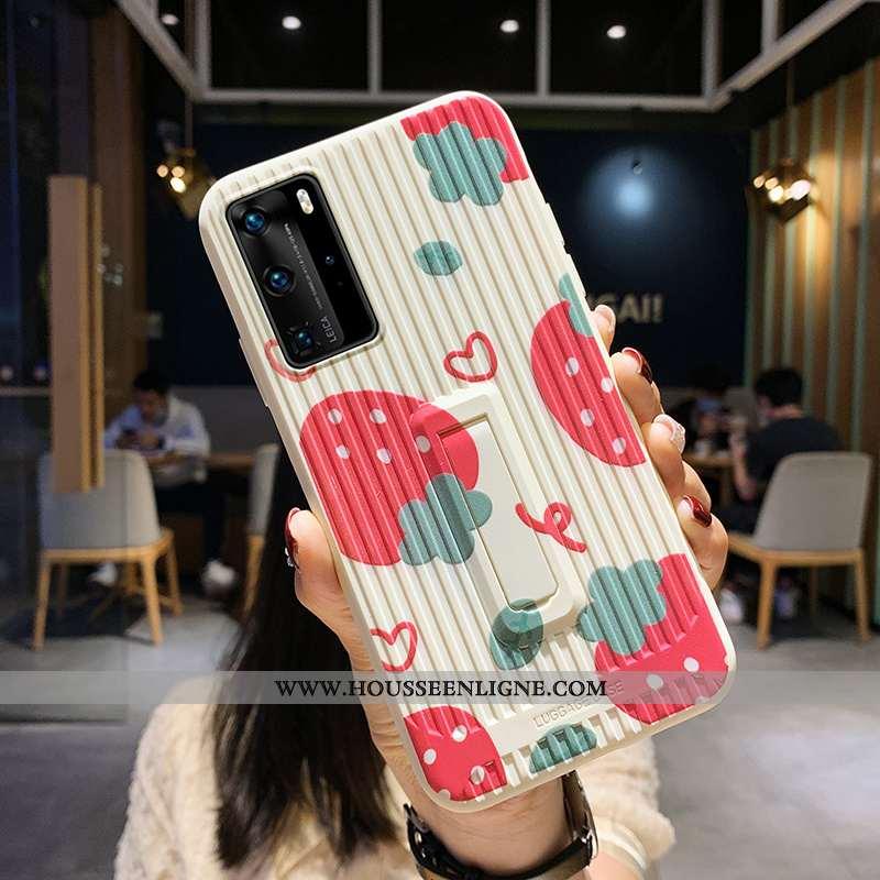 Coque Huawei P40 Pro Personnalité Créatif Rouge Dessin Animé Téléphone Portable Étui Silicone
