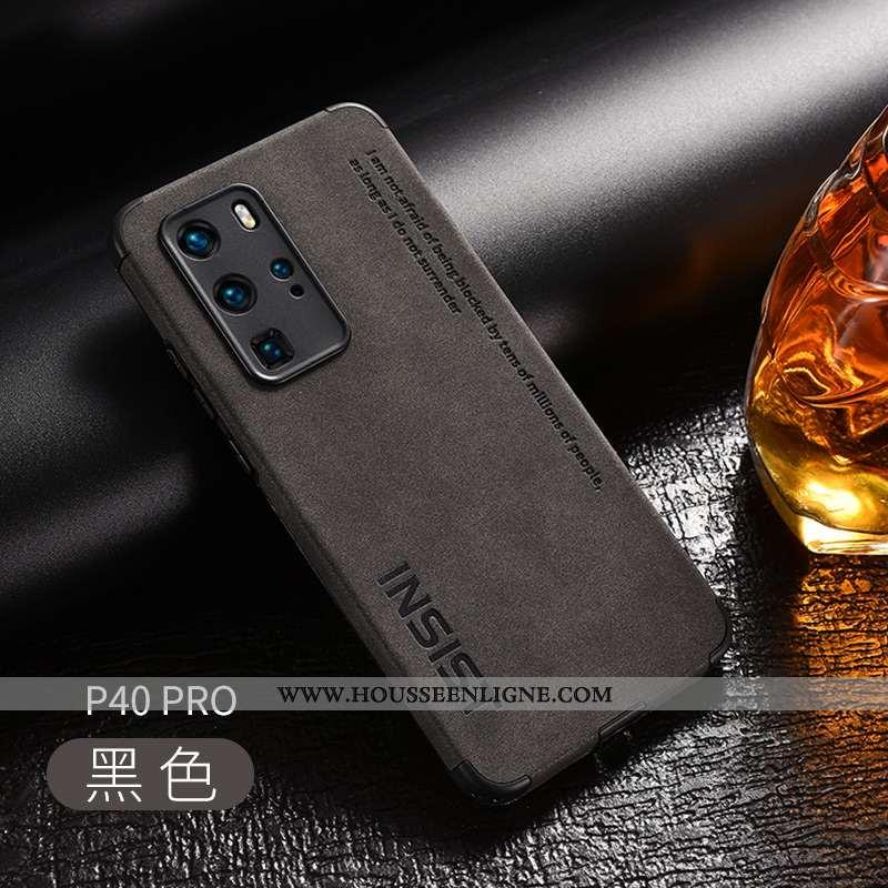 Coque Huawei P40 Pro Silicone Protection Noir Texture Créatif Délavé En Daim