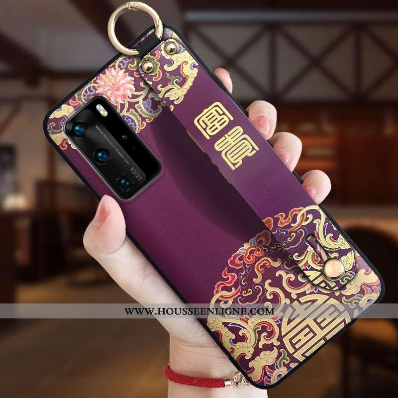 Coque Huawei P40 Pro Silicone Protection Style Chinois Personnalité Ornements Suspendus Tout Compris
