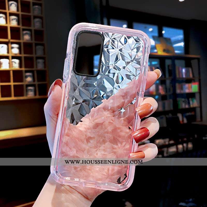 Coque Huawei P40 Pro Tendance Fluide Doux Amoureux Rose Silicone Transparent Tout Compris