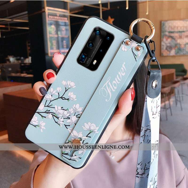 Coque Huawei P40 Silicone Protection Tendance Tout Compris Bleu Ornements Suspendus