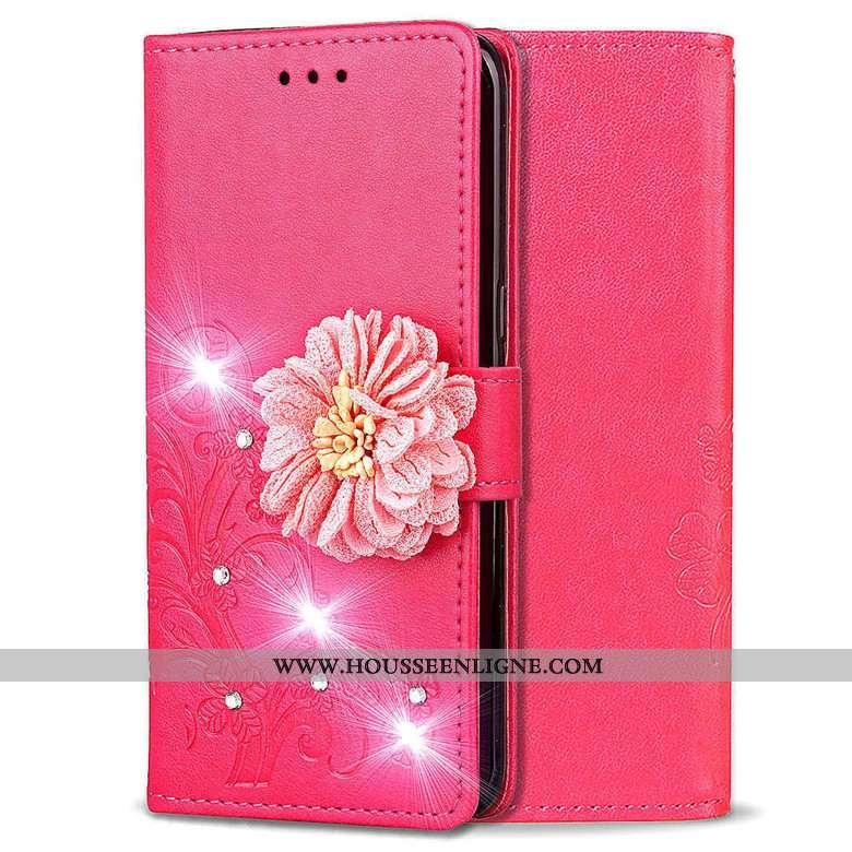 Coque Huawei Y5 2020 Cuir Fluide Doux Téléphone Portable 2020 Protection Housse Rose