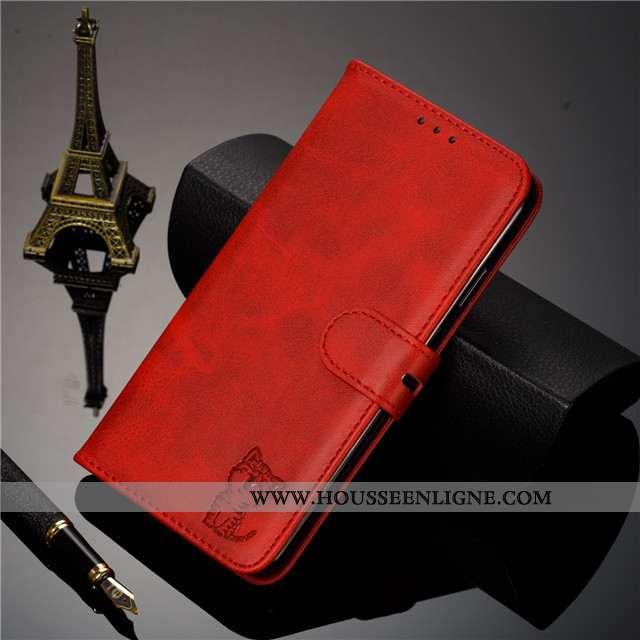 Coque Huawei Y5 2020 Cuir Silicone Tout Compris Clamshell Vin Rouge 2020 Téléphone Portable Bordeaux