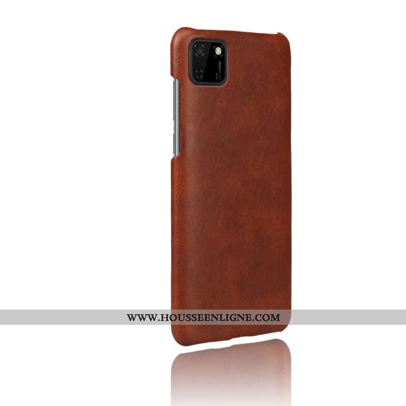 Coque Huawei Y5p Cuir Protection Téléphone Portable Difficile Étui Qualité Marron