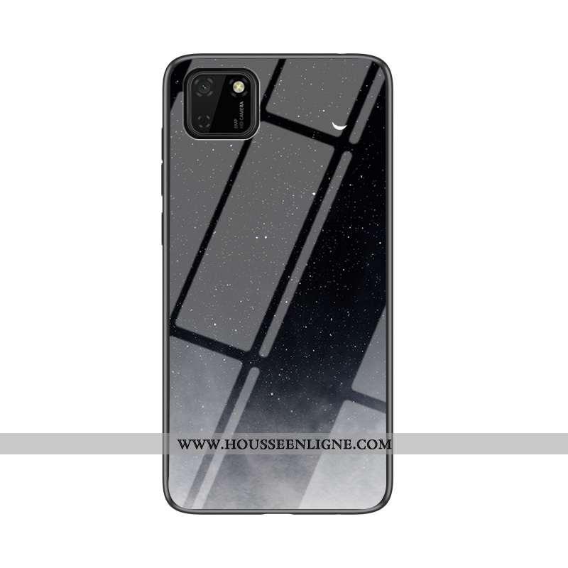 Coque Huawei Y5p Mode Protection Fluide Doux Silicone Dégradé Net Rouge Amoureux Noir