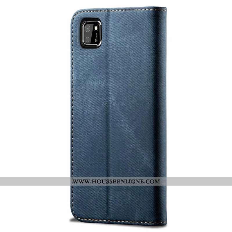 Coque Huawei Y5p Portefeuille Tendance Étui Créatif Fluide Doux Téléphone Portable Cuir Bleu