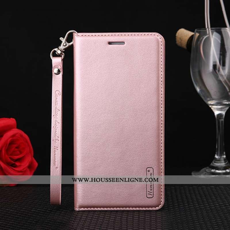 Coque Huawei Y5p Protection Cuir Véritable Housse Rose Cuir Téléphone Portable
