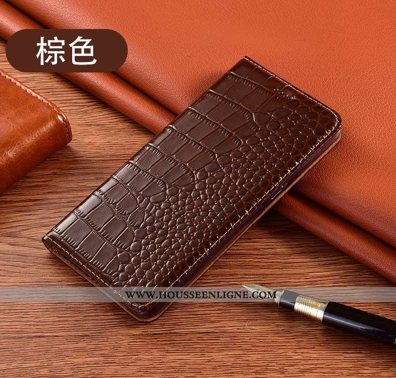 Coque Huawei Y5p Protection Cuir Véritable Tout Compris Téléphone Portable Étui Marron